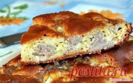 Пирог с мясом «Легче не бывает» Лучшего теста для наливных пирогов я нигде не встречала. Основное его преимущество — тесто без майонеза, а на кефире. Составляющие этого теста найдутся в каждом доме.