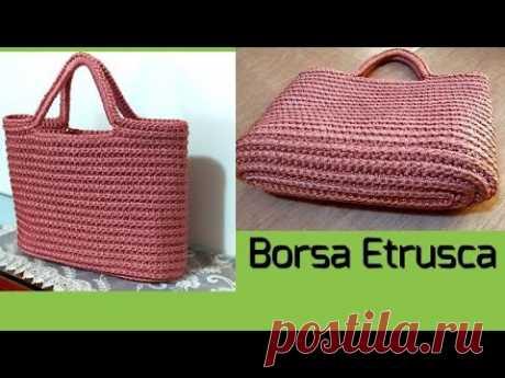 Tutorial:Borsa Etrusca Uncinetto tutorial 3D crochêt bag pattern