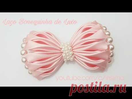Laço de Cetim \ud83c\udf80 Laço Bonequinha de Luxo \ud83c\udf80 DIY \ud83c\udf80 PAP \ud83c\udf80 TUTORIAL \ud83c\udf80 Iris Lima - YouTube