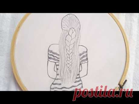 Very easy and beautiful hand embroidery design tutorial - very easy 3d hand embroidery doll design