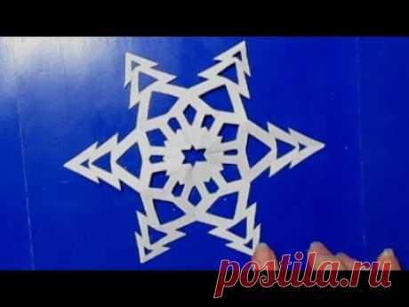 Как Вырезать Простые Снежинки из Бумаги. Красивые Бумажные снежинки для украшения