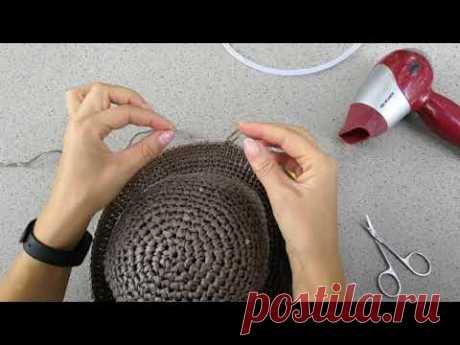 Как укрепить поля вязаной шляпки #вязанаяшляпка #регилин