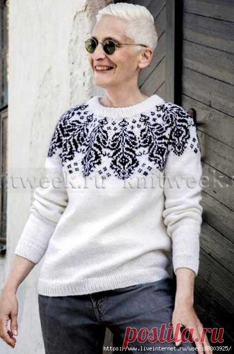 Прекрасный свитер Чертополох - женственно, мило, романтично!