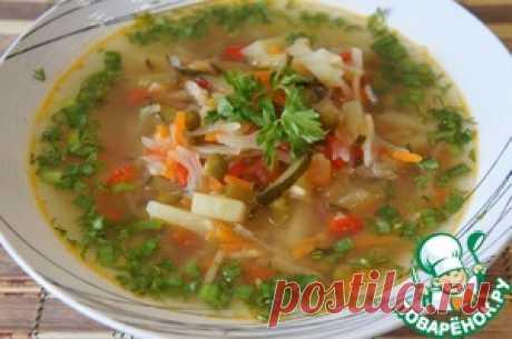 """Los shchi """"Успенские"""" con los pepinos en salmuera - la receta de cocina"""