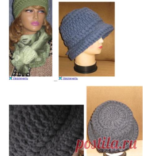 Шляпки -шапочки от Виринеи. Коасивые шляпки и шапочи связанные крючком☻↓↓☻