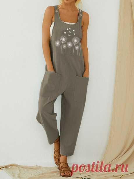 Straps Butterflies Flower Print Casual Jumpsuit For Women Your friend shared a fashion website for you and give you $60 coupons! Claim it now.