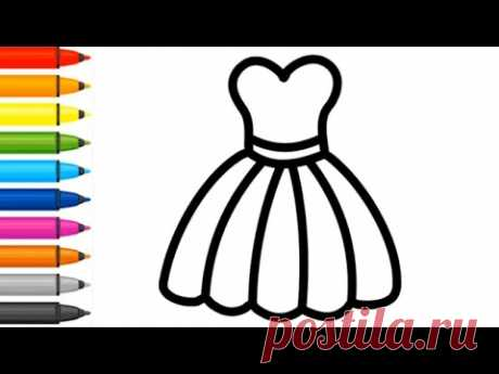 Coloring - How to draw dress