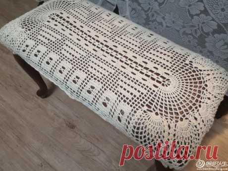 Чехол на стул пианино из кружева крючком-вязание-учебник-вязание жизни