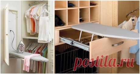 Творческие идеи хранения гладильной доски в небольшой квартире ...