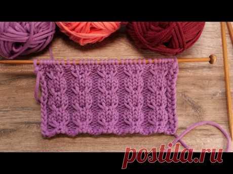 Twist узор спицами 🤞🏻 Twist knitting pattern