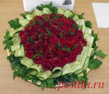 Салат Букет роз / Богатая добыча