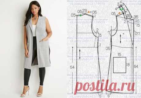 Моделирование удлиненного жилета — Сделай сам, идеи для творчества - DIY Ideas