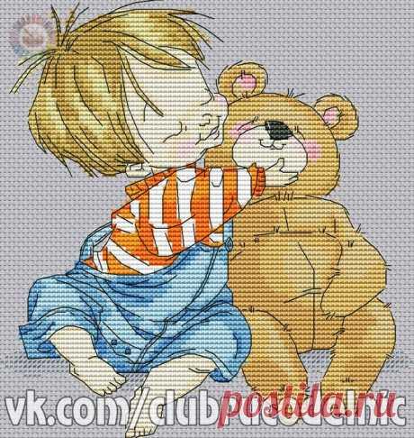 ДЕТСКАЯ ВЫШИВКА-Малыш с медведем
