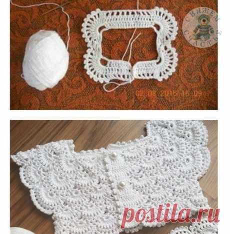 Liepa_Osinka: Очень красивая ажурная кокетка крючком. Детское платье.   Liepa_Osinka   Bloglovin'