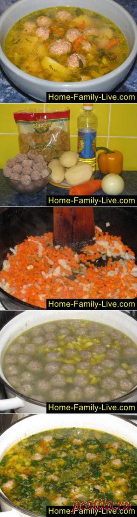 Суп с фрикадельками - пошаговый фоторецепт - быстрый суп с фрикадельками