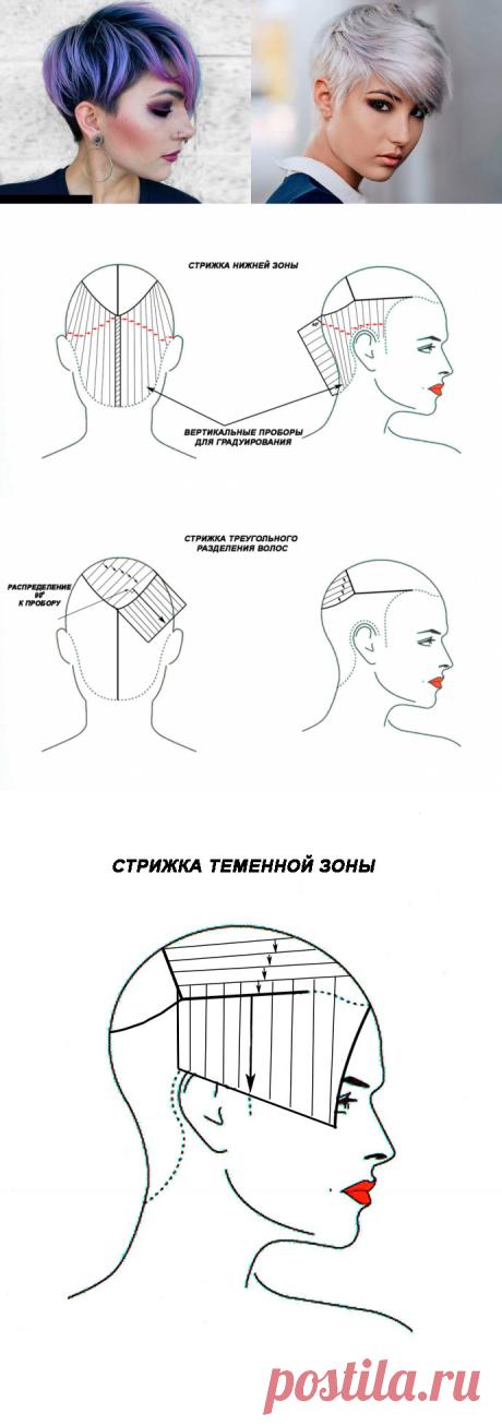 Женские стрижки со схемами