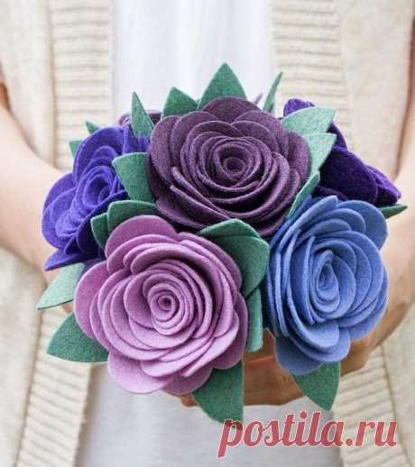 Подробнее Свадьба: Букет цветов? войлок