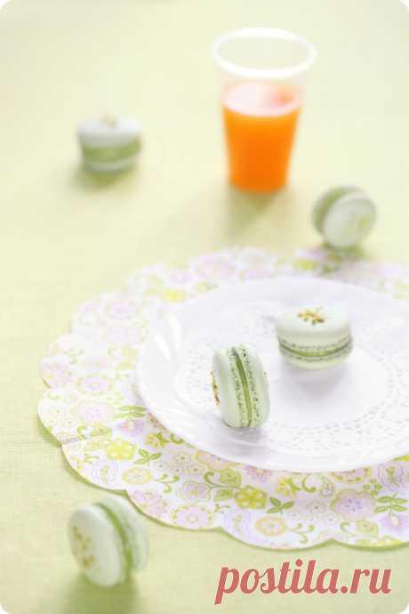 Verdade de sabor: Фисташковые макаронс / Macarons de pistáchio