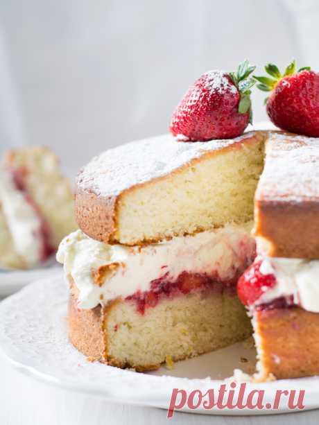 Elena Demyanko: Classical Queen Victoria \/ Classic Victoria sponge cake cake