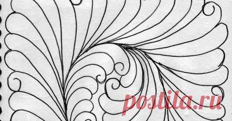 ПОЭТАПНО   СТЁЖКАMy Quilting Sketch Book....      ...
