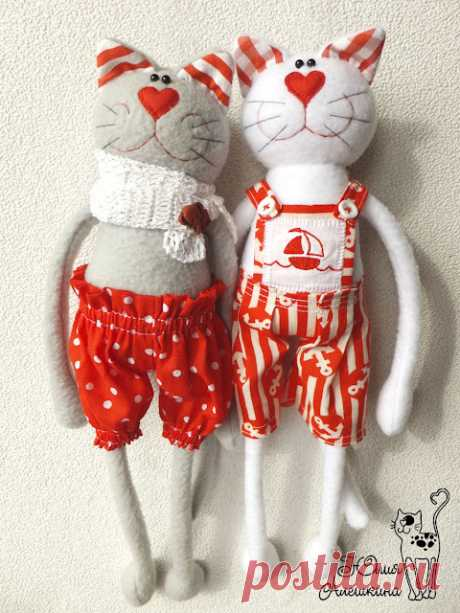 Aleshkina ALtoys Blog: Котики в красном