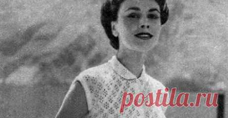 1950's Knitting - Lace Blouse A Library of FREE Vintage Knitting & Sewing Patterns