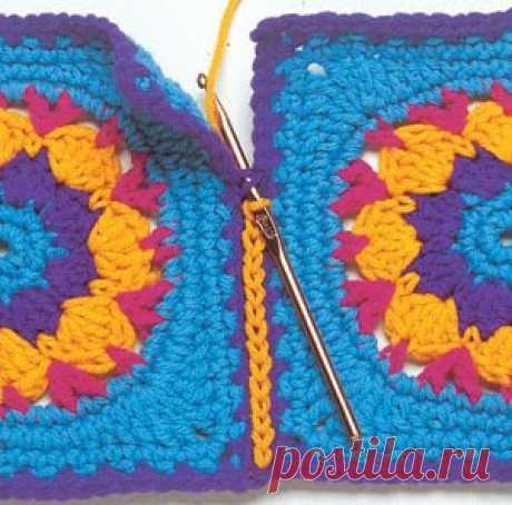 Ways of sewing together of squares (photo)