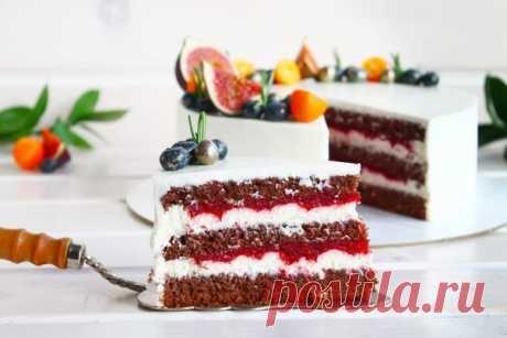 Шоколадный торт «Малина-лимон» Этот торт для любителей нестандартных сочетаний. Привычный и всеми любимый шоколадный вкус соединяется со свежим аро