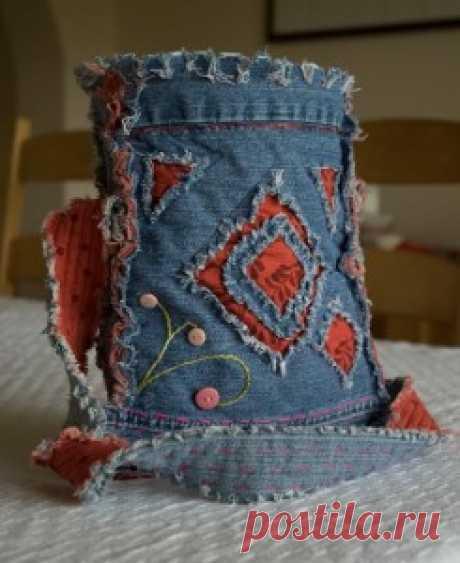 Учебник для джинсы - сделать джинсовую сумку - сошел на Землю
