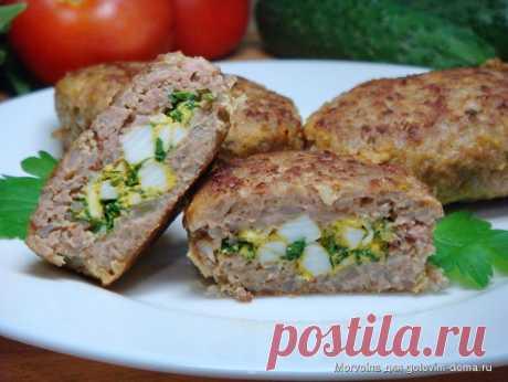 Гречневые зразы с яйцом и зеленью • Блюда из гречки | Golbis