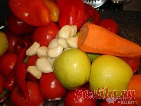 Рецепт: Яблочная аджика   с острым перцем
