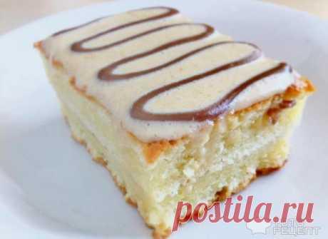 Рецепт: Пирожное сметанное | из сметанного коржа
