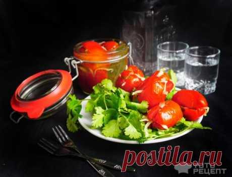 Рецепт: Помидоры по-армянски | с капустой, зеленью, чесноком и перцем чили