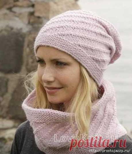 шапочка и снуд - Вязание для женщин спицами. Схемы вязания спицами