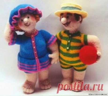 Летняя парочка купальщиков Альберт и Мабель