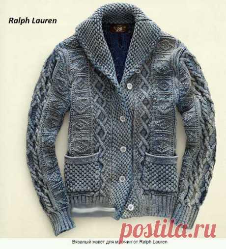 Жакет для мужчин от Ralph Lauren спицами - Вязание спицами ...
