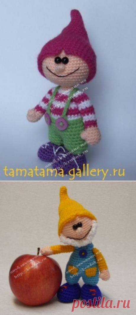 Вязаная игрушка – Гном Мышиный зубик