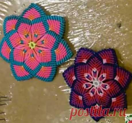 De flores mandala (el macramé)