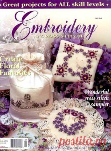 Embroidery & Cross Stitch No. 7 2011 - An embroidery (miscellaneous) - Magazines on needlework - the Country of needlework