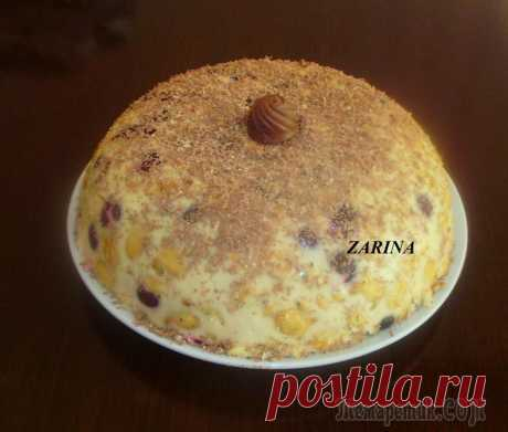 Summer cherry cake without pastries!! Tasty and easy without excess efforts!