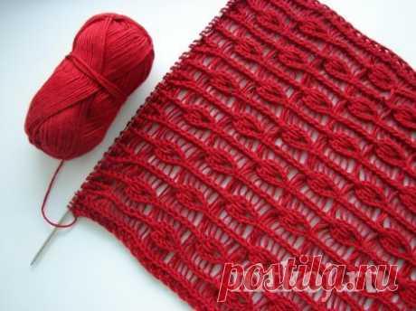Мастер класс вязания ажурного узора спицами » Ниткой - вязаные вещи для вашего дома, вязание крючком, вязание спицами, схемы вязания