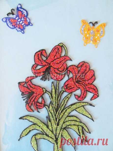 Картина из бисера. Мастер-класс с пошаговым фото