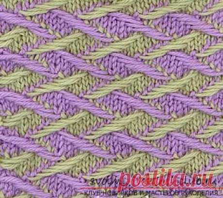 """Как освоить двухцветное вязание спицами, ажурные двухцветные узоры, """"ленивые"""" двухцветные узоры, а также двухцветные узоры для детей и взрослых со схемами и подробным описанием."""