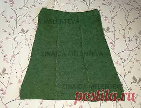 1000 идей для вязания спицами: Зелёная юбка