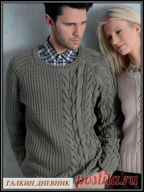 ГАЛКИН ДНЕВНИК: Мужской пуловер спицами