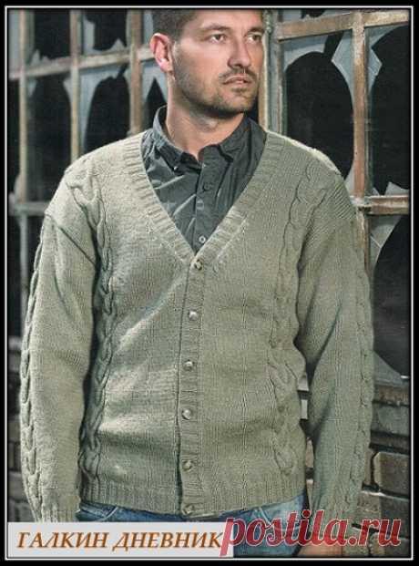 ГАЛКИН ДНЕВНИК: Вязание спицами мужского жакета