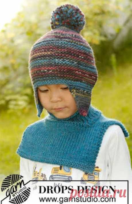 1000 идей для вязания спицами: Шапочка с ушками «Мистер Берри» от DROPS Design