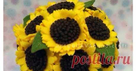 Sunflower Bouquet tempat tisu gulung buket bunga matahari. Unik dan eegan.