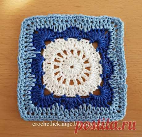 Crochet Heklanje: Moj rad 52 - Motiv 25
