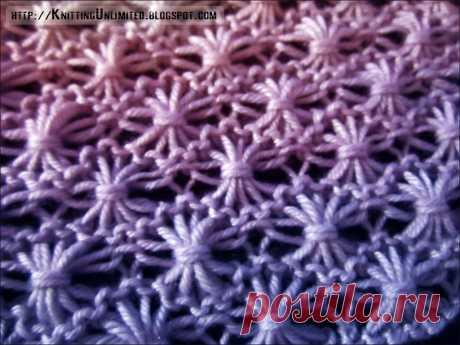 Dandelion Flower Knitting Stitch - Knitting Unlimited